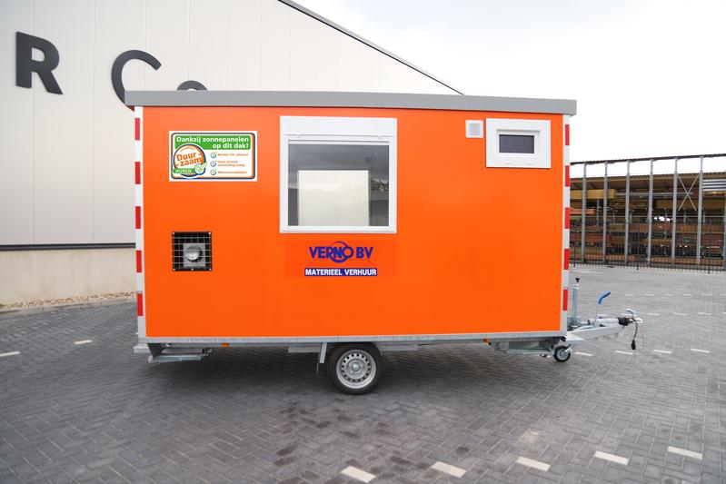 Schaftwagen (berging+wc) zonnepaneel huren