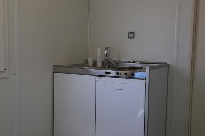 Kantoorunit 6 x 2,5 m. keuken huren