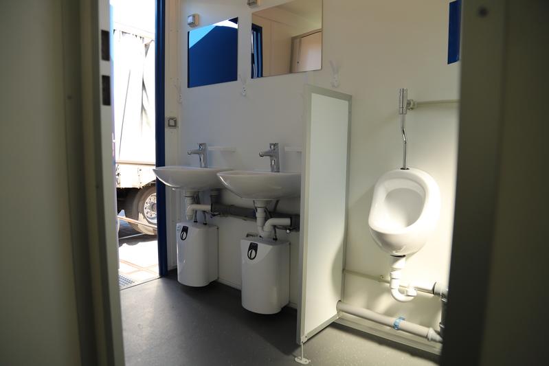 Sanitair unit 10ft huren