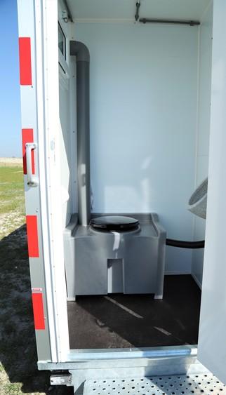Schaftwagen 5 mtr. zonnepaneel (berging+wc+interieur) huren