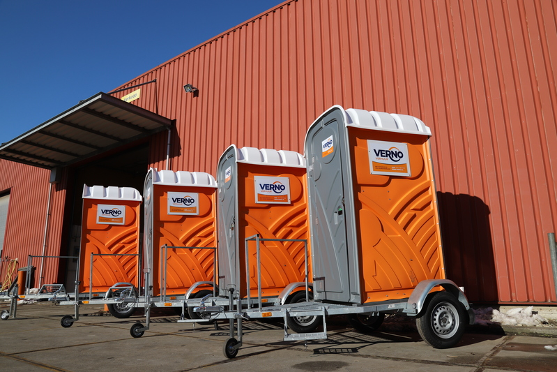 Mobiel toilet op aanhanger huren